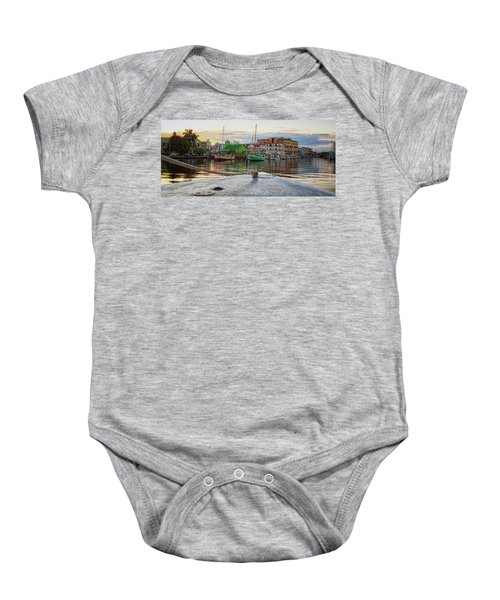 Belize City Harbor Baby Onesie