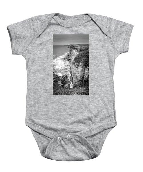 Bempton Cliffs Baby Onesie by Nigel Wooding