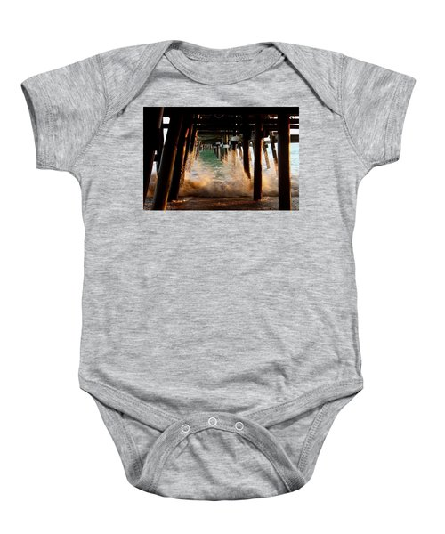 Beneath The Pier Baby Onesie