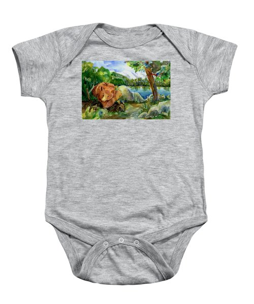 Between A Rock And Hardplace Baby Onesie