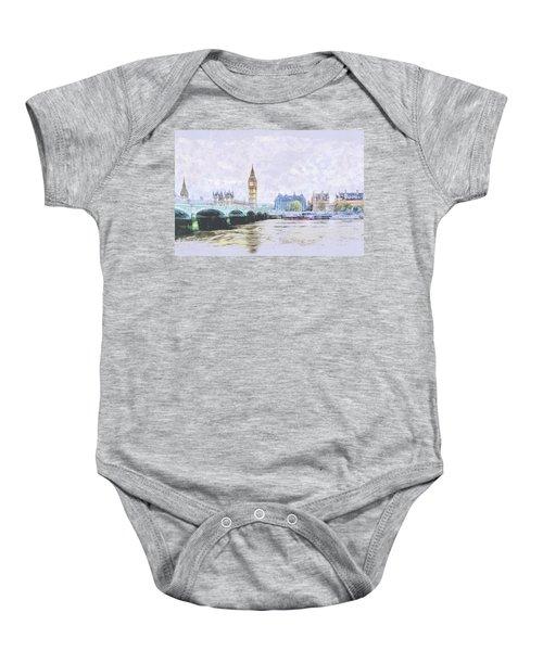 Big Ben And Westminster Bridge London England Baby Onesie