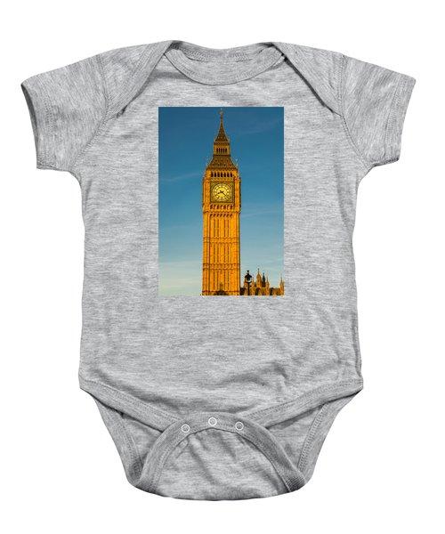 Big Ben Tower Golden Hour London Baby Onesie