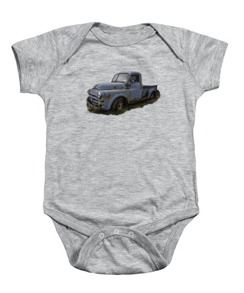 Big Blue Dodge Alone Baby Onesie