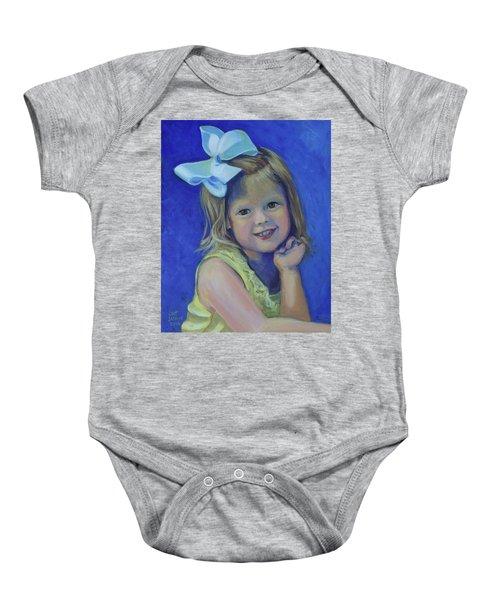 Big Bow Little Girl Baby Onesie