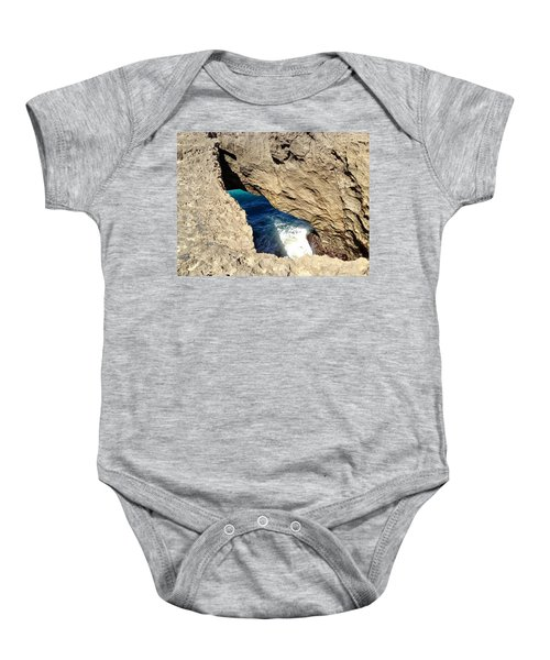 Big Hole  Baby Onesie