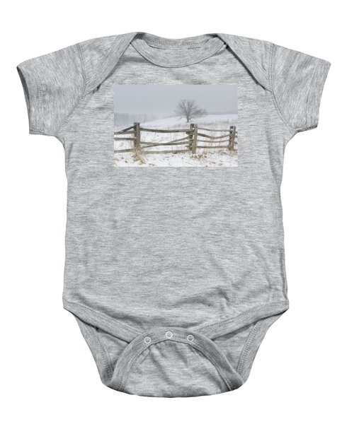 Big Oak Tree Baby Onesie