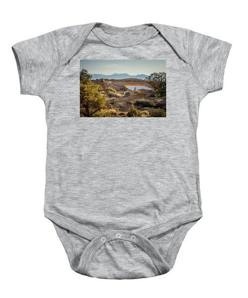 Bighorn Sheep And Mesa Arch Baby Onesie