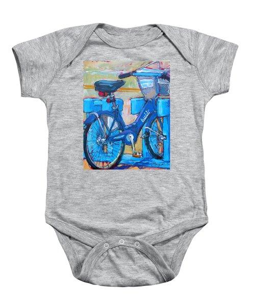 Bike Bubbler Baby Onesie