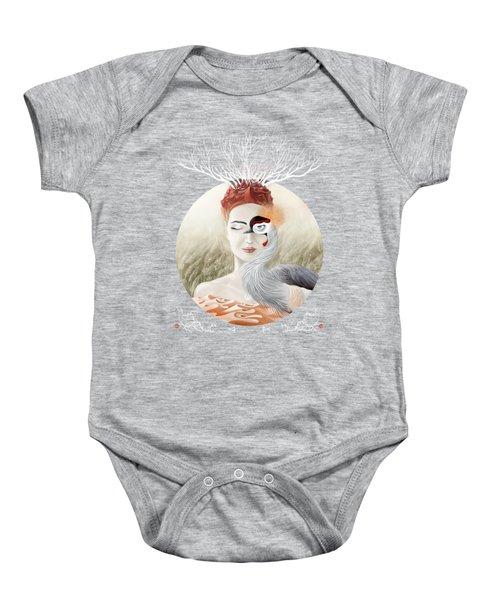 Bird Of Cranes Baby Onesie