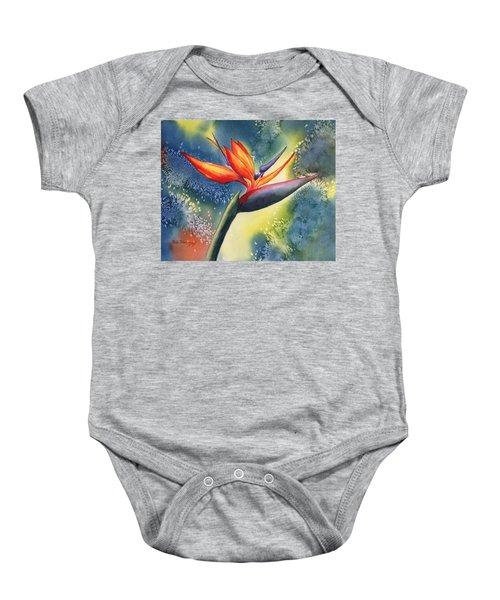 Bird Of Paradise Flower Baby Onesie