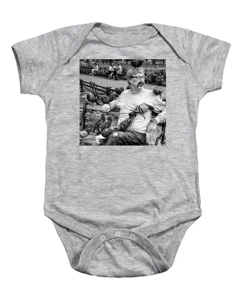 Baby Onesie featuring the photograph Birdman Of Wsp by Eric Lake