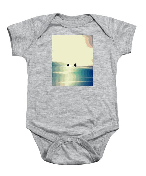 Birds On A Wire Baby Onesie