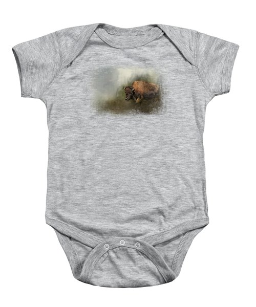 Bison After The Mud Bath Baby Onesie