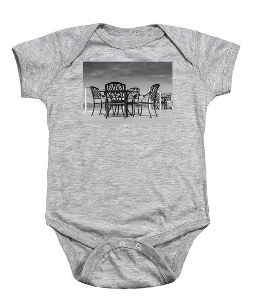 Black Cast Iron Seats Baby Onesie