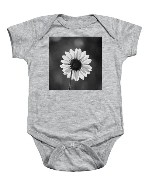 Black-eyed Susan - Black And White Baby Onesie