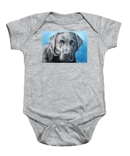 Black Lab Baby Onesie