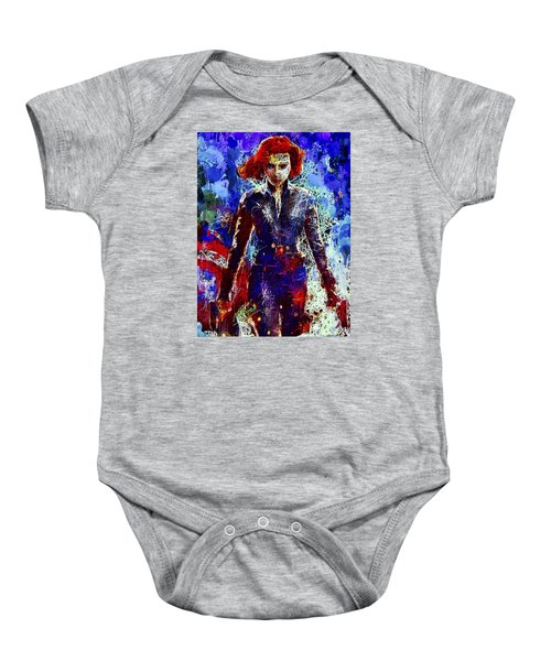 Black Widow Baby Onesie