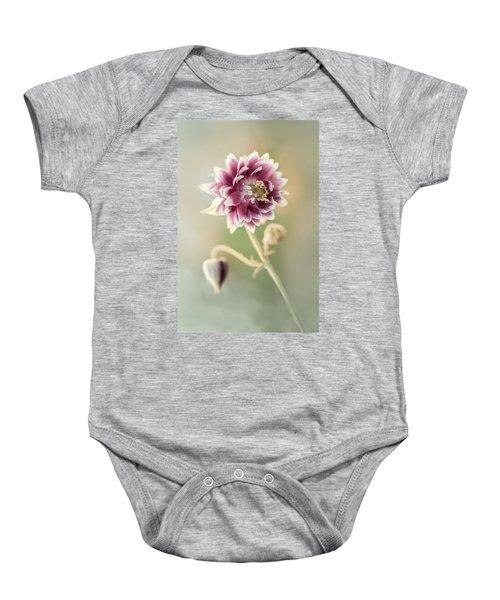 Blooming Columbine Flower Baby Onesie