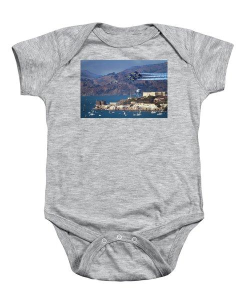 Blue Angels Over Alcatraz Baby Onesie