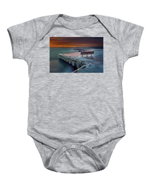 Blue Bench Baby Onesie