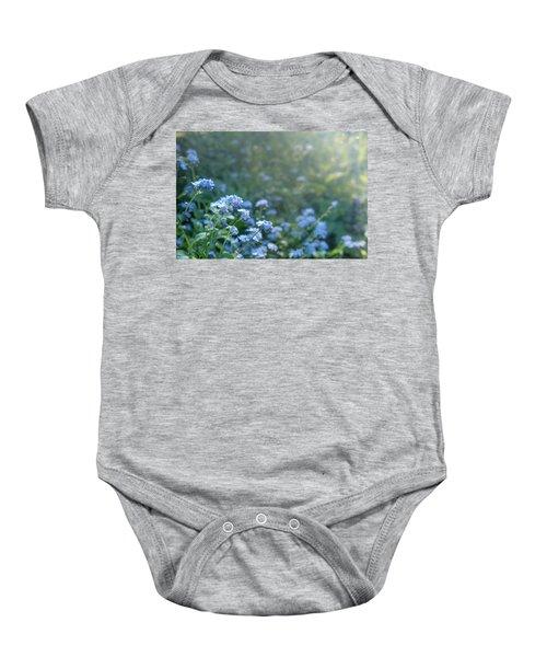 Blue Blooms Baby Onesie
