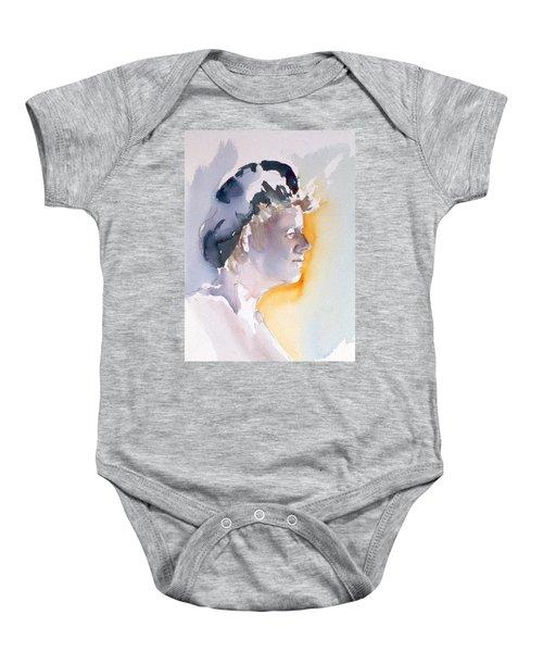 Blue Cap Baby Onesie