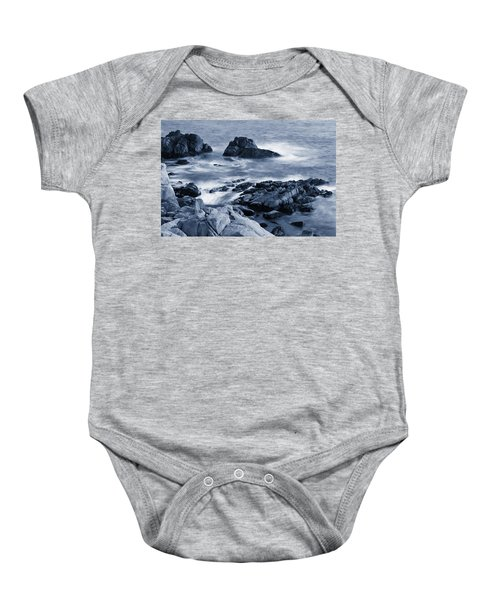 Baby Onesie featuring the photograph Blue Carmel by Renee Hong