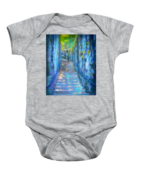 Blue Dream Stairway Baby Onesie