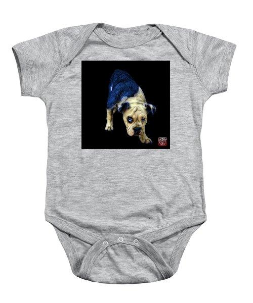 Blue English Bulldog Dog Art - 1368 - Bb Baby Onesie