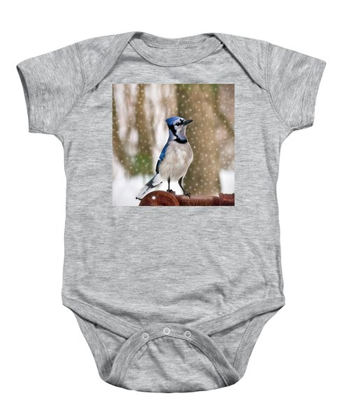 Blue For You Baby Onesie by Evelina Kremsdorf