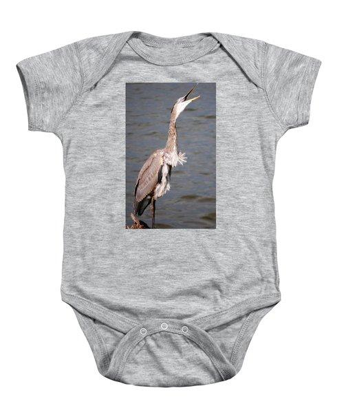 Blue Heron Calling Baby Onesie