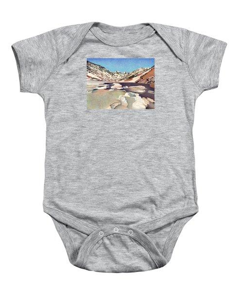 Blue Lakes Colorado Baby Onesie