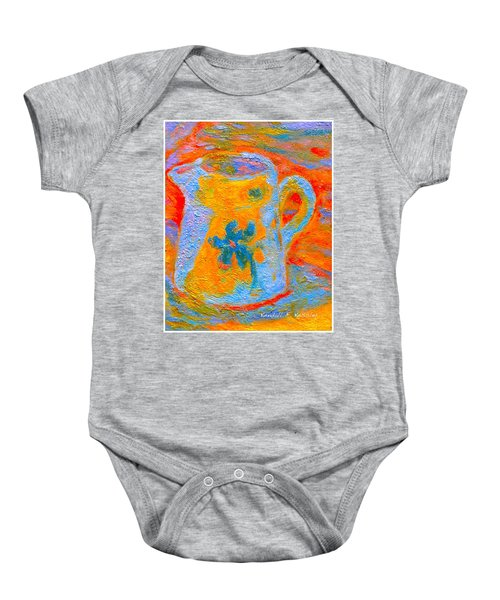 Baby Onesie featuring the painting Blue Life by Kendall Kessler