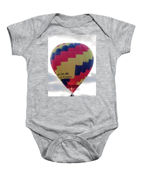 Blue, Red And Yellow Hot Air Balloon Baby Onesie