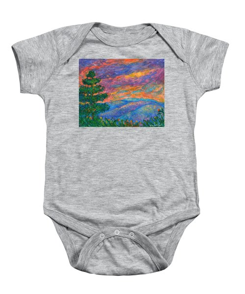 Baby Onesie featuring the painting Blue Ridge Jewels by Kendall Kessler