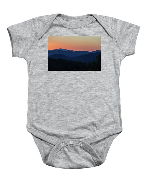 Blue Ridge Sunset Baby Onesie