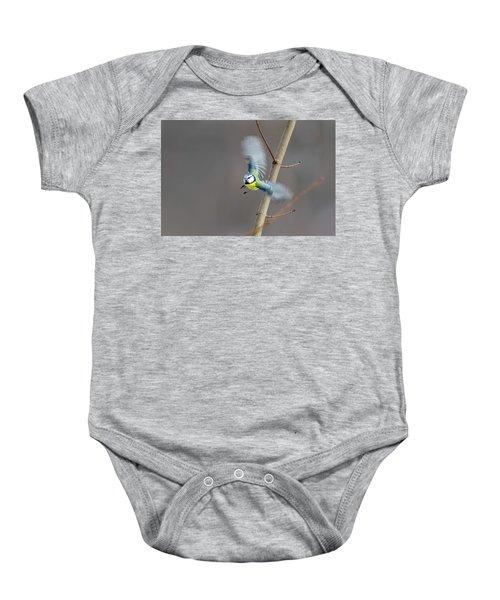 Blue Tit In Flight Baby Onesie