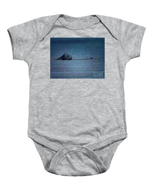 Blue Trawler 1 Baby Onesie