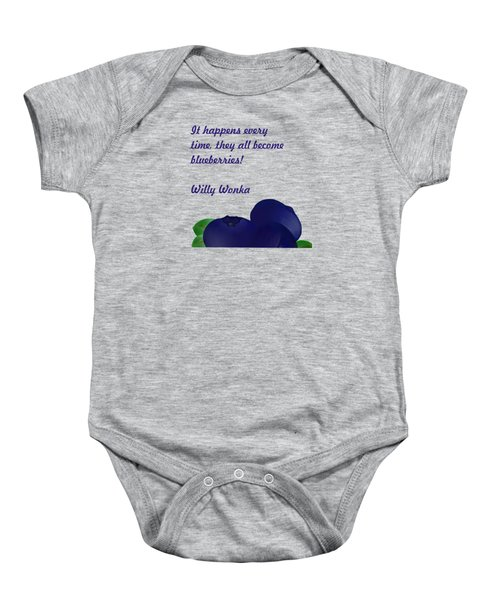 Blueberries Baby Onesie