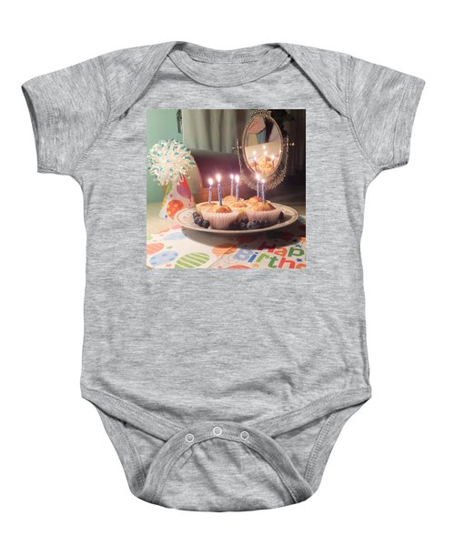 Blueberry Muffin Birthday Baby Onesie