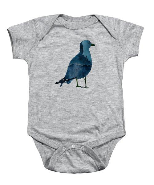 Bluegull Of Art T-shirt Baby Onesie by Majula Warmoth