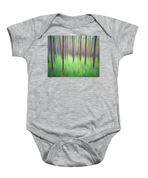 Blurred Aspen Trees Baby Onesie