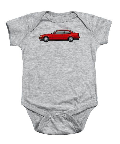 Bmw 3 Series E36 Coupe Red Baby Onesie