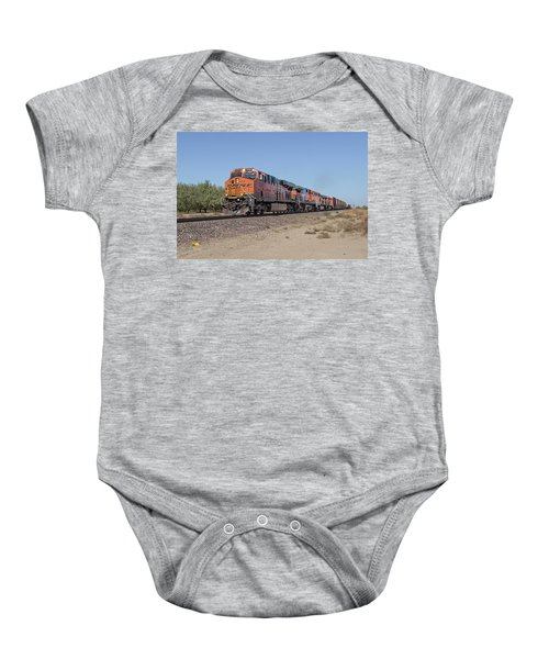 Baby Onesie featuring the photograph Bnsf7890 by Jim Thompson