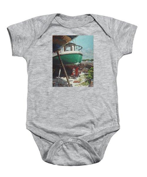 Boat Yard Boat 01 Baby Onesie
