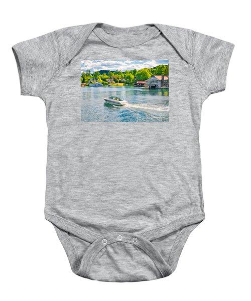 Boating Lake George New York Baby Onesie