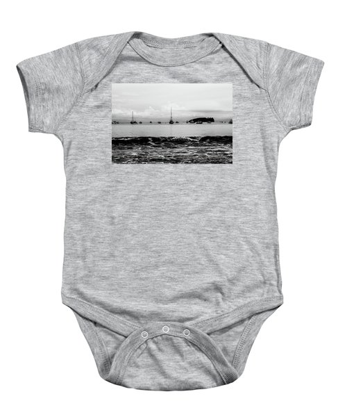 Boats And Waves 2 Baby Onesie