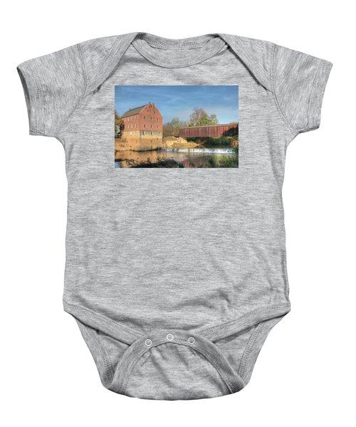 Bollinger Mill And Burfordville Covered Bridge Baby Onesie