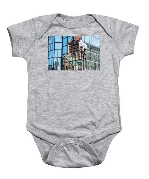 Boston At Different Angle Baby Onesie