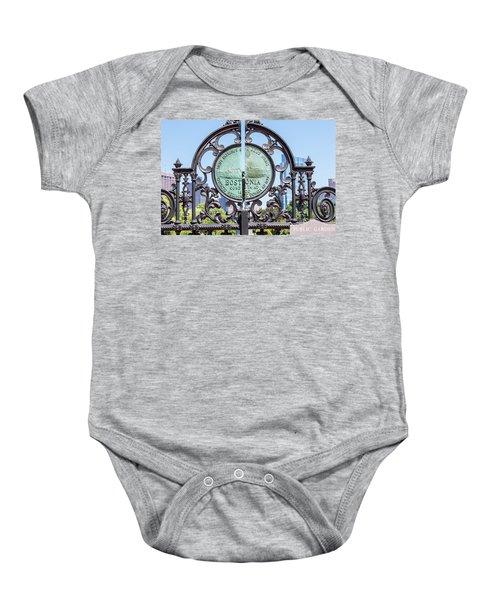 Boston Garden Gate Detail Baby Onesie